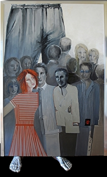 """Stand up for your Right"" by KiKi Kaye Oil ~ 75"" x 48"""