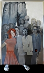 """""""Stand up for your Right"""" by KiKi Kaye Oil ~ 75"""" x 48"""""""
