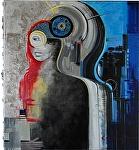 """""""Dynamic"""" by KiKi Kaye Oil ~ 40"""" x 40"""""""