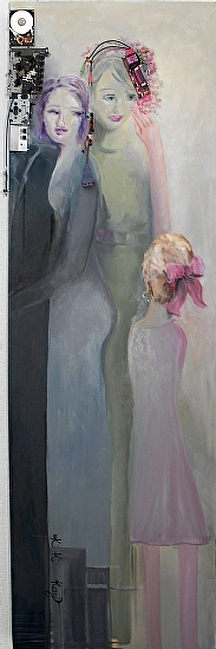 """Facebook"" by KiKi Kaye Oil ~ 71"" x 34"""
