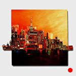 """Favorite City"" by KiKi Kaye mixed media ~ 40"" x 46"""