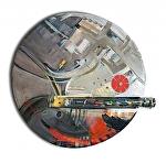 """""""Recycle Wheel"""" by KiKi Kaye mixed media ~ 30"""" x"""