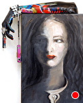 """""""Tattoo Lady"""" by KiKi Kaye Sculptures combined with Paintings ~ 26"""" x 20"""""""