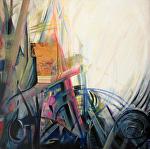 """Bright  Light"" by KiKi Kaye mixed media ~ 28"" x 28"""