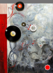 �Le Secrete en Musique� by KiKi Kaye mixed media ~ 52 x 40""