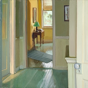 Third Floor Light by Lea Wight Oil ~ 22 x 22