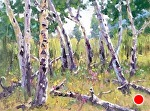 Aspen Dance by Mike Bagdonas Oil ~ 12 x 16