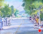 Morning Light On Monterey St by Mike Bagdonas Oil ~ 8 x 10