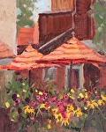 "Canopies And Flowers by Mike Bagdonas Oil ~ 10"" x 8"""