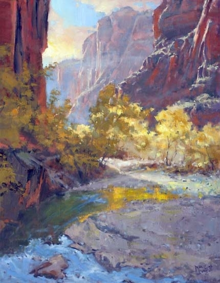 Reflections Down Canyon