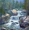 "Upper Copeland Falls by Mike Bagdonas Oil ~ 20"" x 20"""