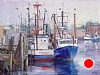 "Gloucester Fishing boats by Mike Bagdonas Oil ~ 18"" x 24"""