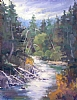 "Gray Morning On The Truckee by Mike Bagdonas Oil ~ 18"" x 14"""