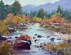 "Fall On The West Fork by Mike Bagdonas Oil ~ 11"" x 14"""