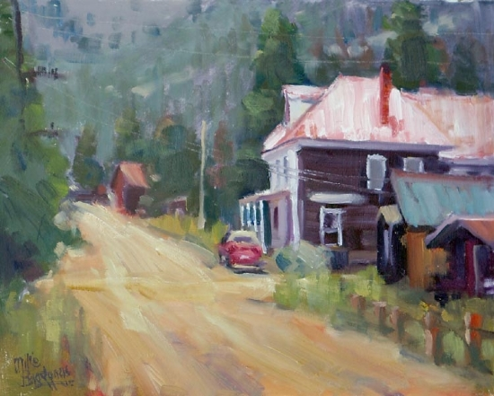 "The Goldminer Hotel by Mike Bagdonas Oil ~ 8"" x 10"""