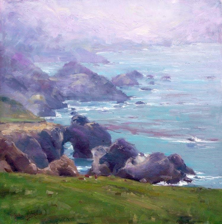 """Foggy May Morning"": at Carmel Art Festival"