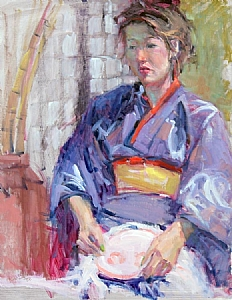 "Asian Beauty by Mike Bagdonas Oil ~ 23"" x 18"""