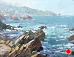 Crumbling Coast by Mike Bagdonas Oil ~ 11 x 14