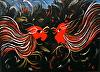 Fighting Cocks by cdunkley atticartstudio Acrylic ~  x
