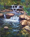 "Flowing Water by Brian Sauerland Pastel ~ 20"" x 16"""