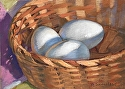 "Eggs in a Basket by Brian Sauerland Pastel ~ 7"" x 10"""