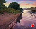 "Sunset on the Mississippi by Brian Sauerland Pastel ~ 11"" x 14"""