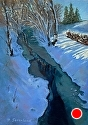 "Winter on Salt Creek by Brian Sauerland Pastel ~ 10"" x 7"""