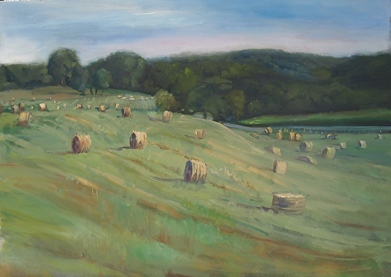 Hay Bails , Newtown and Darby Paoli Roads - Oil