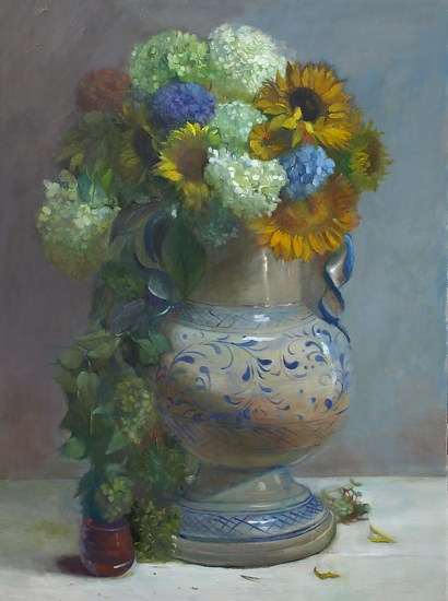 Late Summer Flowers - Oil