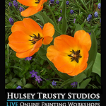 John Hulsey - Spring Tulips - Live Online Watercolor Class