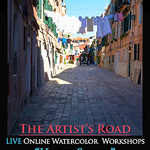 John Hulsey - Venice Street, LIVE Online Watercolor Class with John Hulsey