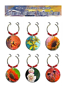 Kansas Wildflower Stemware Charms