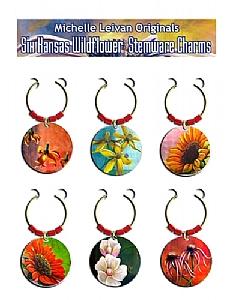 Kansas Wildflower Stemware Charms