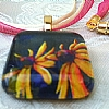 Necklace - Pair of Susans by Michelle Leivan Glass ~ 1 x 1