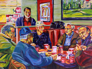 "McCoffee Council 18""x24"" by Michelle Leivan Print ~ 18 x 24"