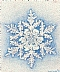 "Snowflake by Jacqueline Davidson Color Pointillism ~ 4"" x 4"""