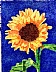 "Sunflower by Jacqueline Davidson Color Pointillism ~ 6"" x 4"""