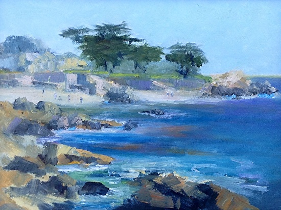 Lovers Point Pacific Grove - Oil