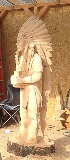 Cigar Store Indian Carving - Woodcarving