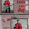Peace Love and Joy Painted Photo Custom Christmas Card