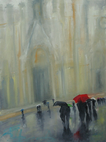 In the Shadows of the Duomo - Oil