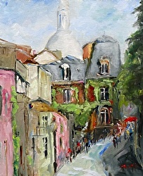 Maison de Rose by Gina Strumpf Oil ~  x