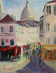 Morning View in Montmartre by Gina Strumpf Oil ~  x