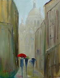 Shadows of The Basilica by Gina Strumpf Oil ~  x