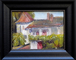 Moulin at St. Jean de Cole by Gina Strumpf Oil ~ 12 x 9
