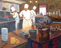 Head Chef by Robert Sandidge Oil ~ 24 x 30
