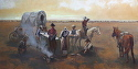 Chuck Wagon by Robert Sandidge Oil ~ 24 x 48