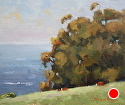Grazin by the Sea by Robert Sandidge Oil ~ 10 x 12