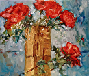 Party Roses by Karen Meredith Oil ~ 20 x 24