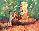 Play Date by Karen Meredith Oil ~ 24 x 30